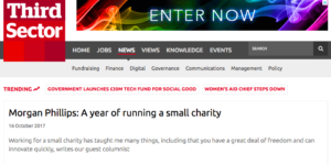 A year running a small charity small non-profits alliance