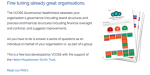 VCOSS healthcheck for organisations small non-profits alliance