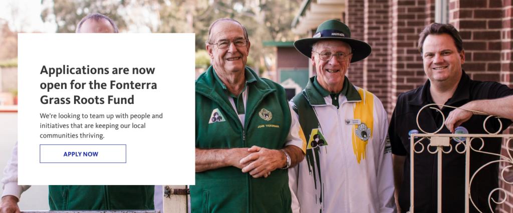 Fonterra grants for small charities australia